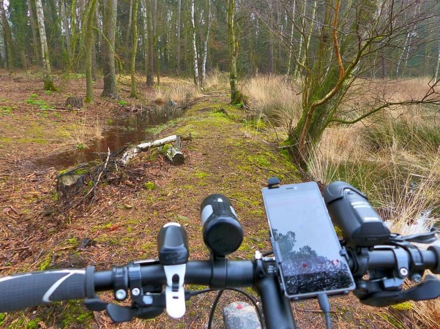 Kein Rad, aber navigieren mitkomoot