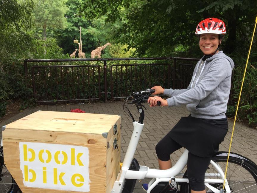 Das Bookbike kommt nachKrefeld