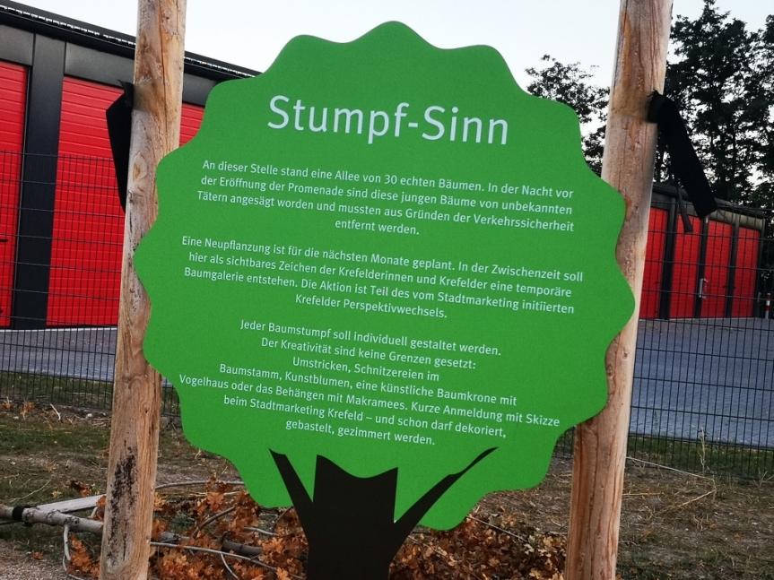 """Krefelder Promenade – Aktion """"Stumpf-Sinn"""""""